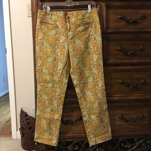 Size 10 Woven Paisley Pants by Cartionnier